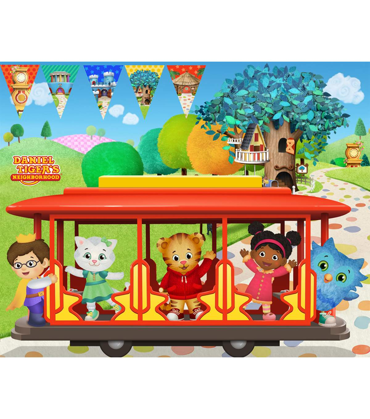 Disney Junior Daniel Tiger Felt Fabric Panel 36''.