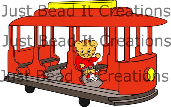 Daniel Tiger Trolley Inspired SVG Cut File.
