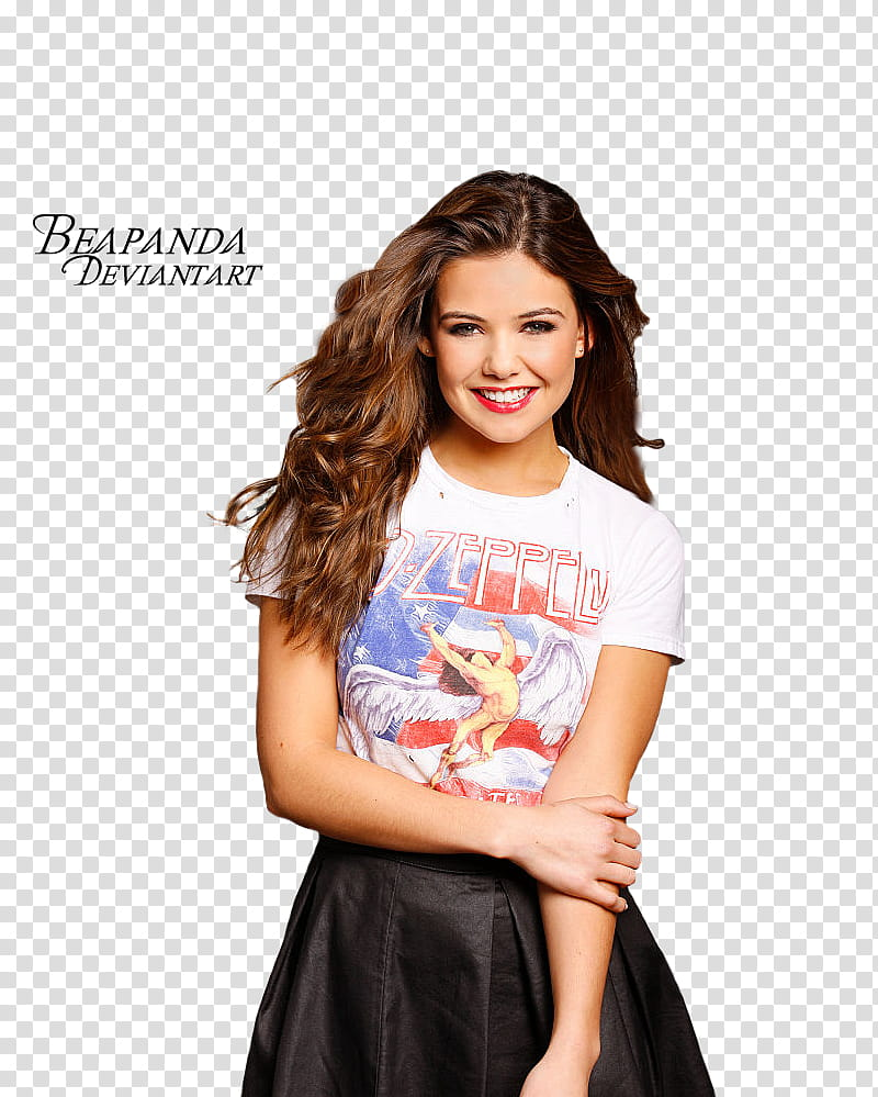 Danielle Campbell, women's black skirt transparent background PNG.