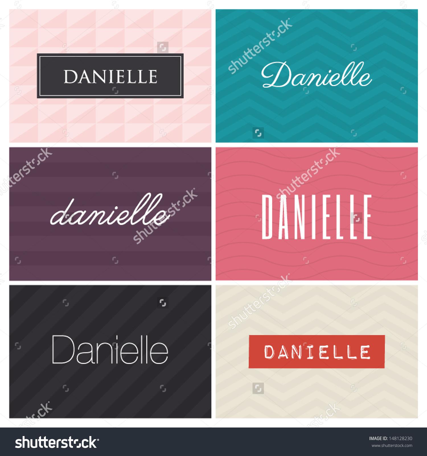 Name Danielle Graphic Design Elements Stock Vector 148128230.
