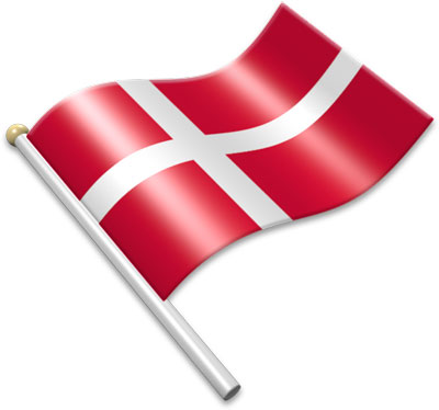 Flag Icons of Denmark.