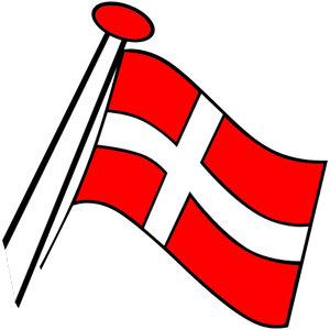 Clipart danish flag.