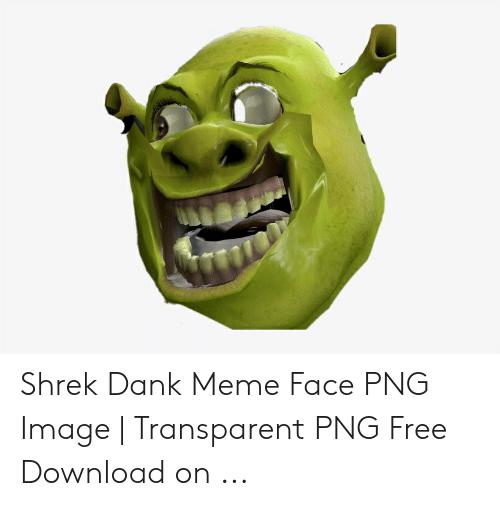 Shrek Dank Meme Face PNG Image.