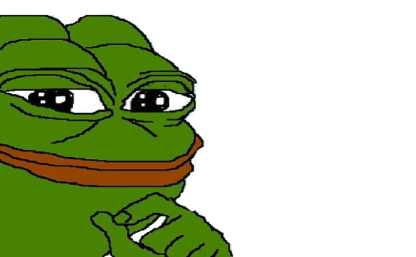 Black frog face