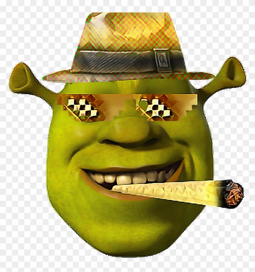 Golden Mlg Shrek Face Bling Shrek Dank Meme Funny Wow, HD Png.