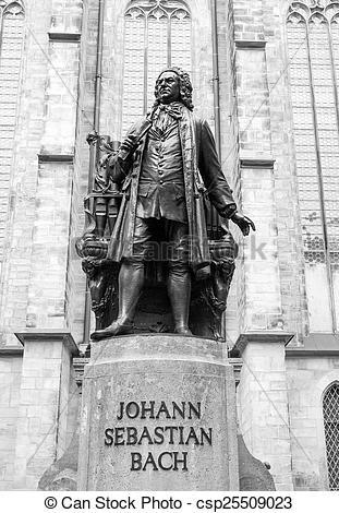 Stock Photo of Neues Bach Denkmal.