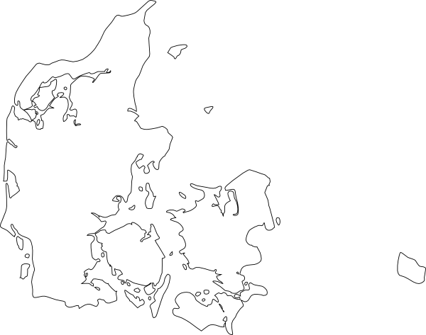 Denmark Map Clipart.