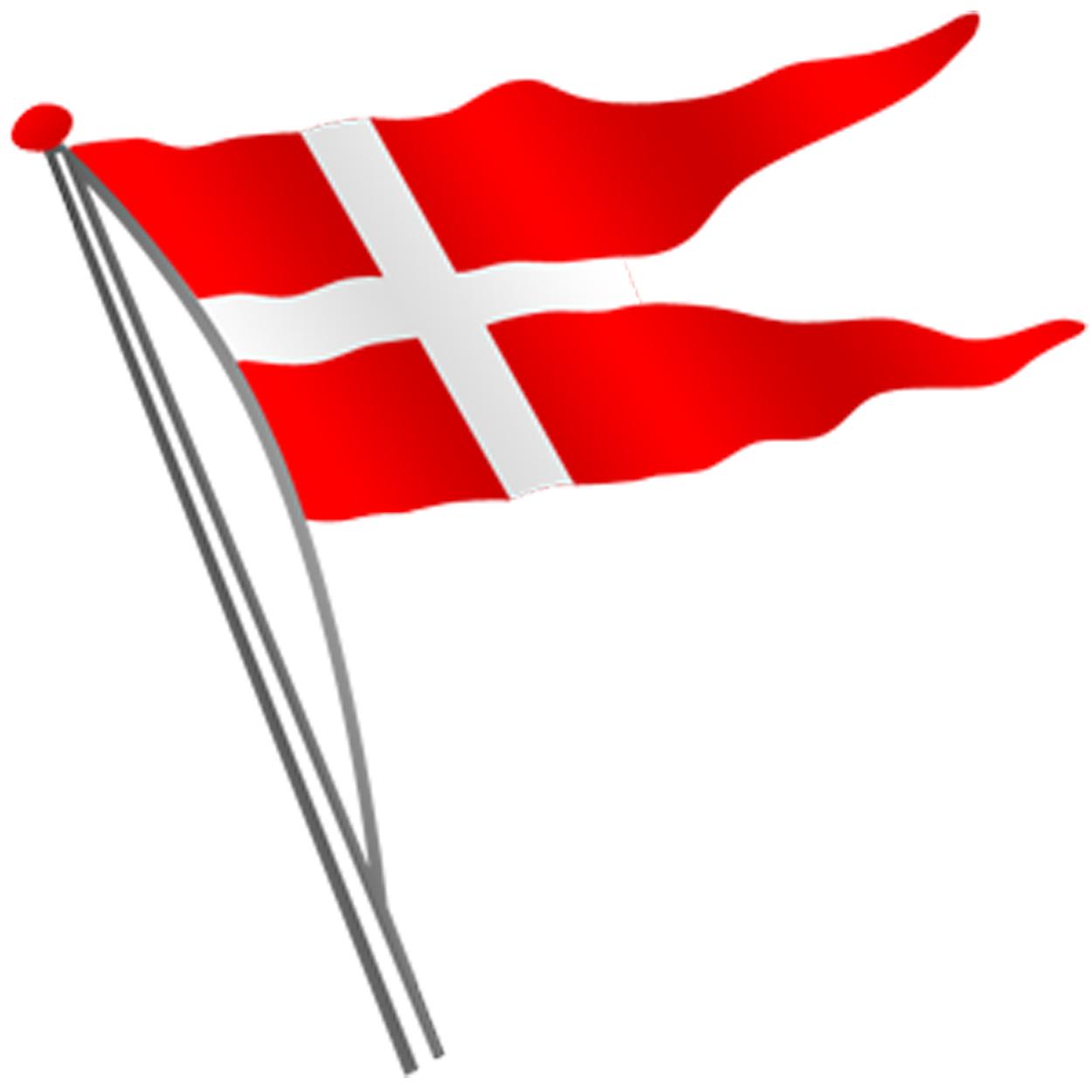 Dannebrog Flag Clipart.