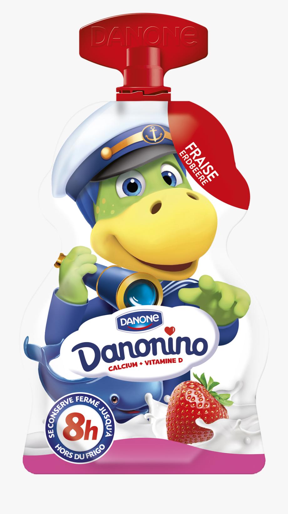 Danone Danonino Strawberry Yogurt Drink.