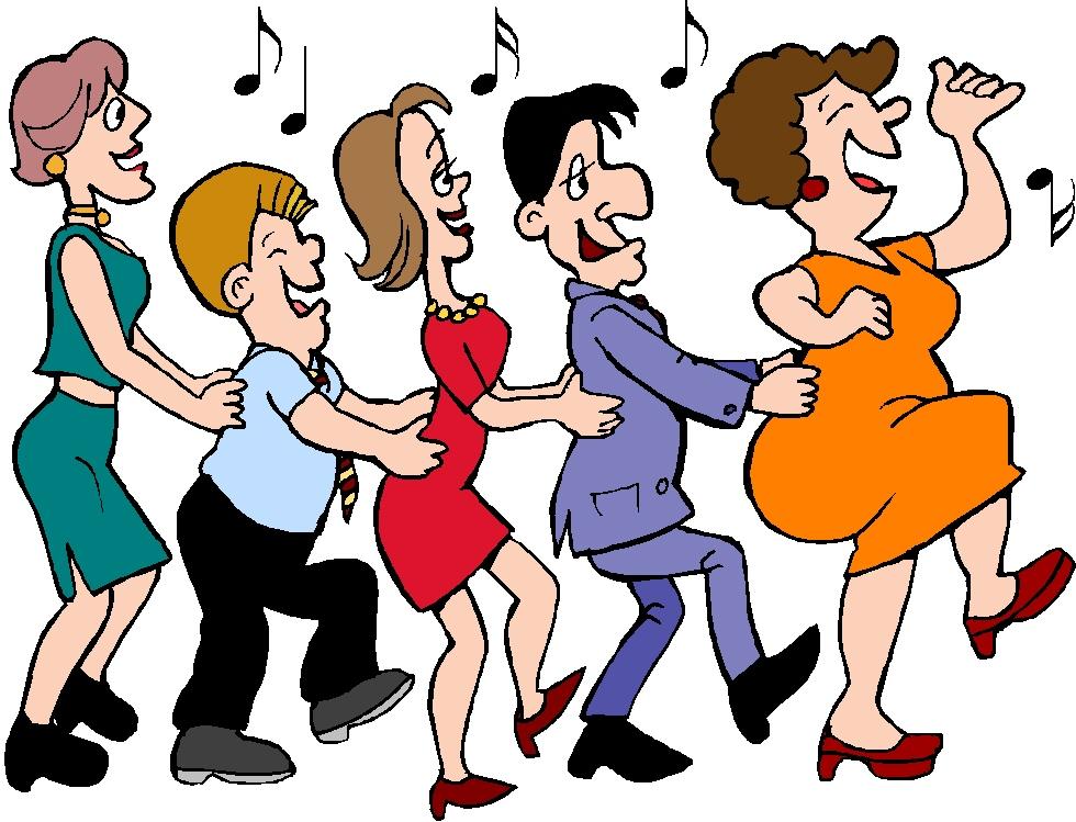 Seniors Dancing Clipart.