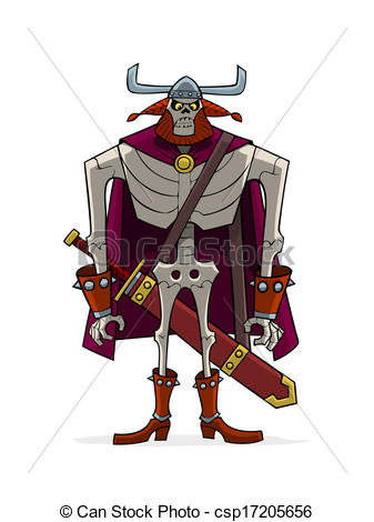 Clipart Vector of Danse Macabre. Viking..