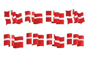 Danish Flag Free Vector Art.