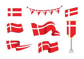 Danish Flag Free Vector Art.