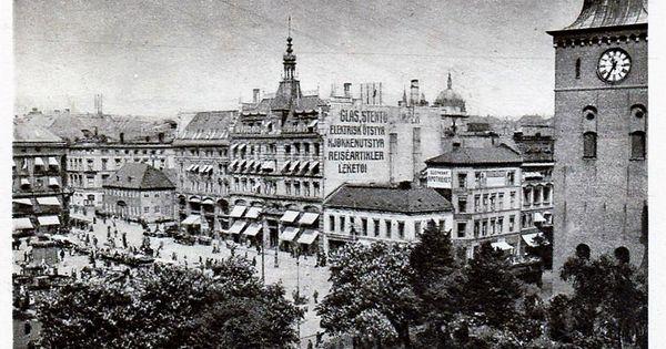 Kristiania Christiania Stortorvet med Domkirken og Glasmagasinet.