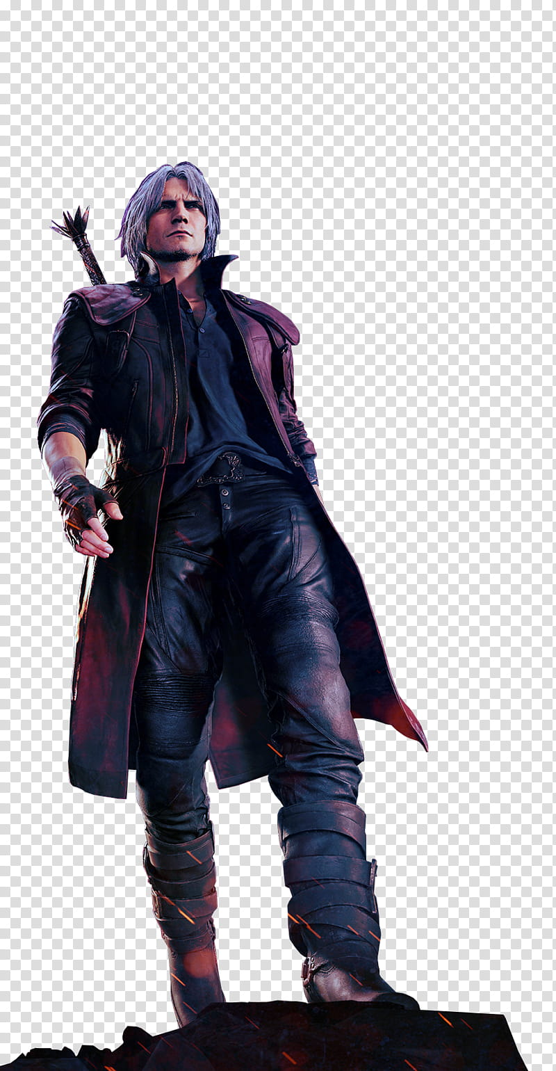 Devil May Cry Dante Deluxe Key Art Render transparent.