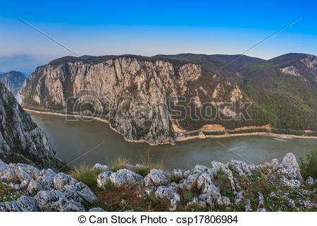 Stock Illustration of The Danube Gorges.