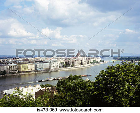 Stock Photograph of Budapest and danube river is478.
