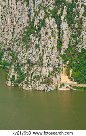 "Stock Photo of Danube gorges ""Cazanele Mari"" k7217953."