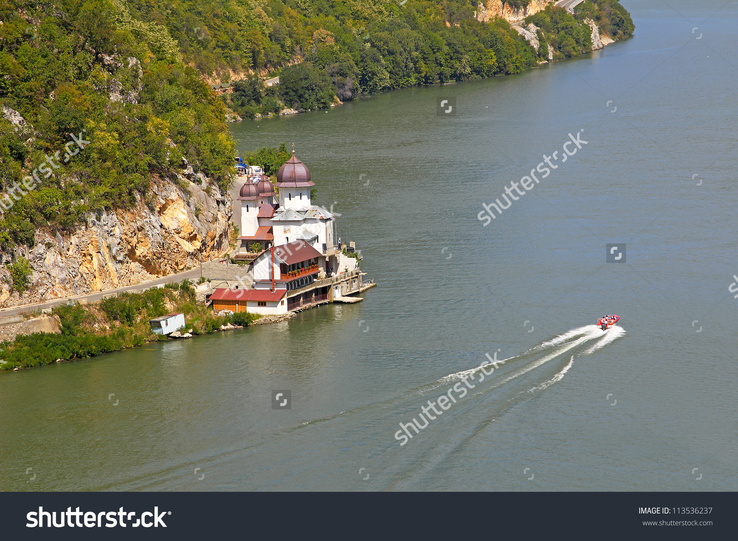 Danube Gorge Danube Djerdap National Park Stock Photo 113536237.