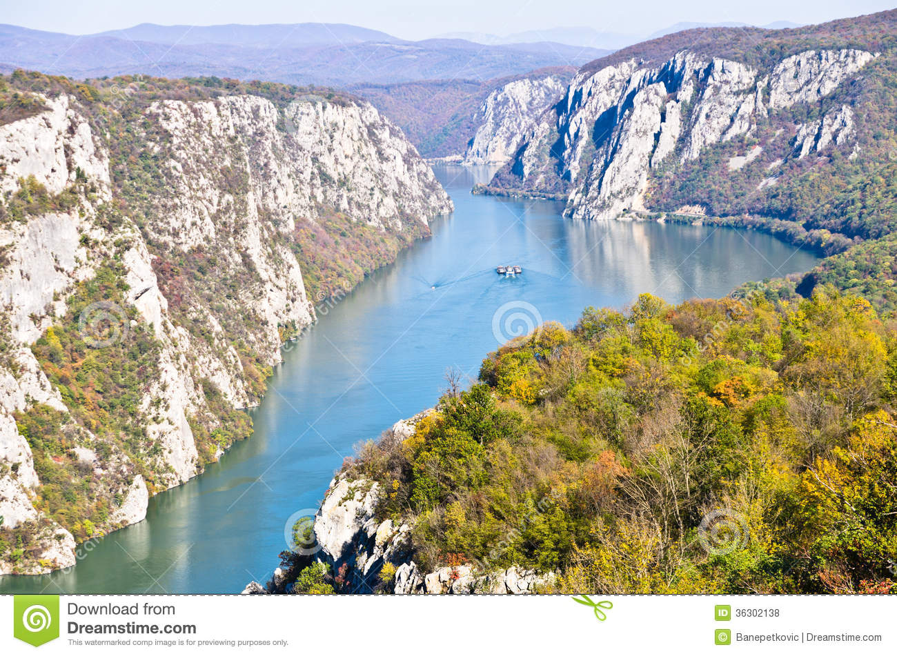 Danube Gorge, Danube In Djerdap National Park, Serbia Stock Image.