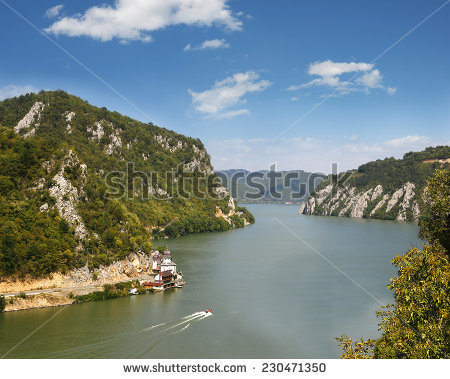 Danube Gorge, Danube In Djerdap (Iron Gates) National Park, Serbia.