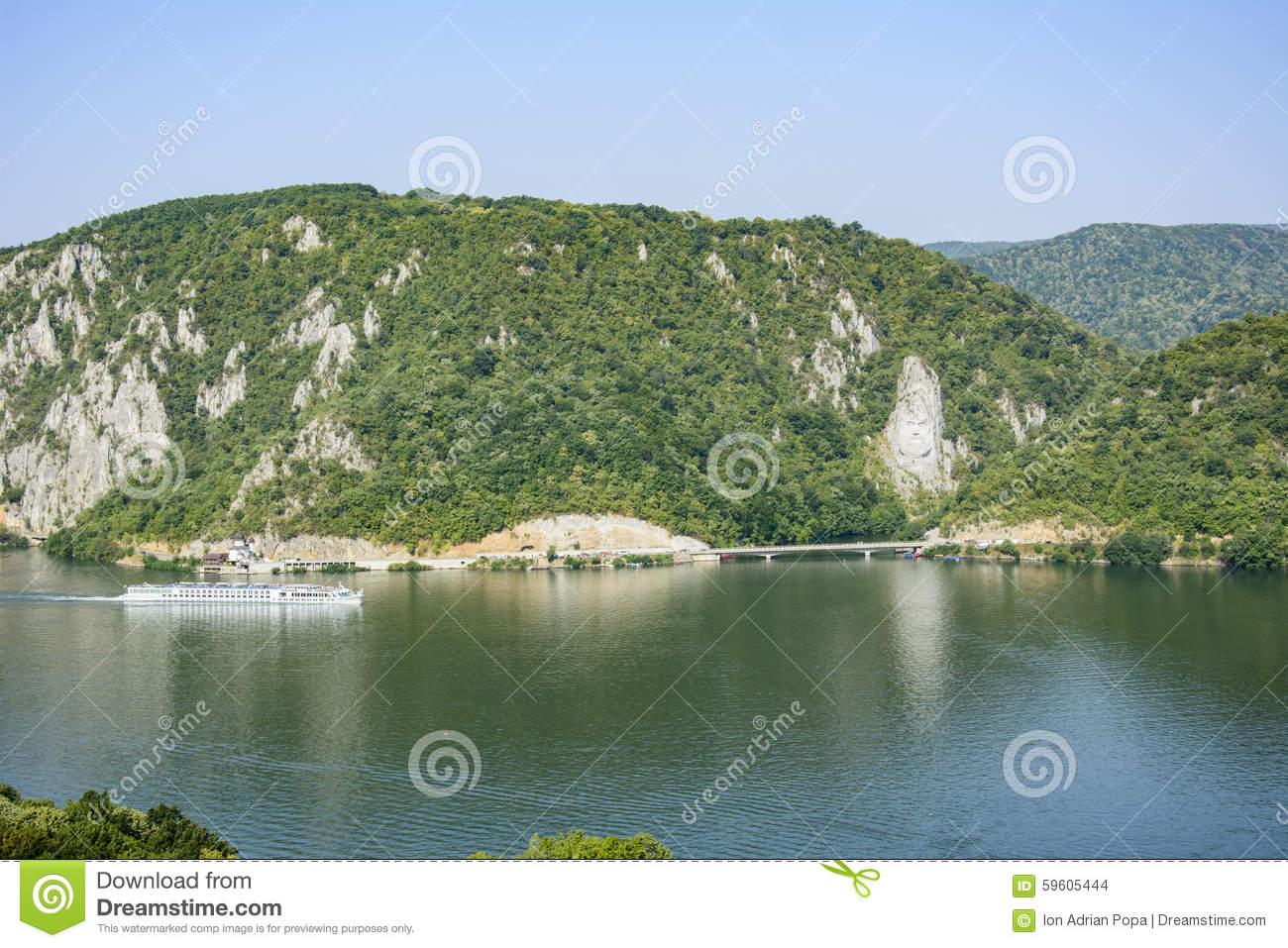 Danube Gorge, Decebal Statue, Romania.