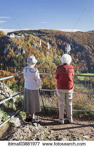 "Picture of ""Two elderly ladies looking at the view over Danube."