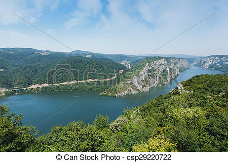 Stock Photo of Danube gorges.