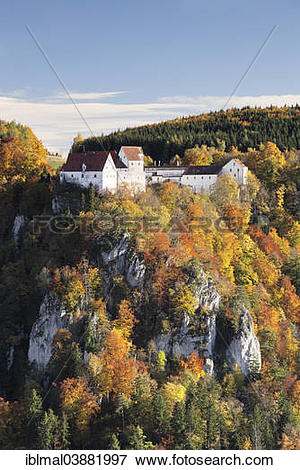 "Picture of ""View over Danube Gorge towards Burg Wildenstein Castle."