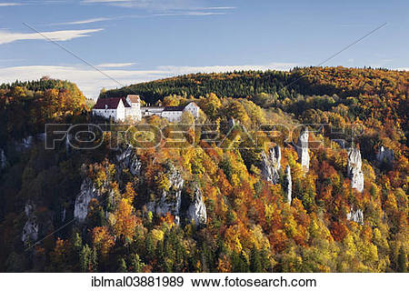 "Stock Photograph of ""View over Danube Gorge towards Burg."