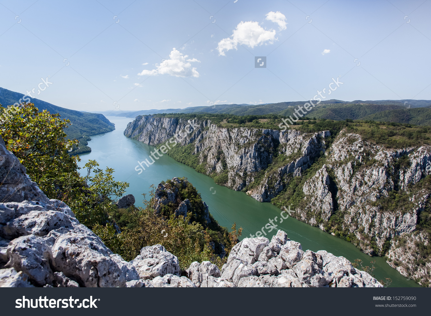 Danube Gorge Danube Djerdap National Park Stock Photo 152759090.