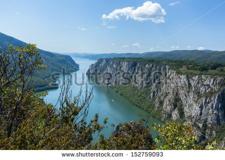 "Danube Gorge ""Iron Gate"" On The Serbian."