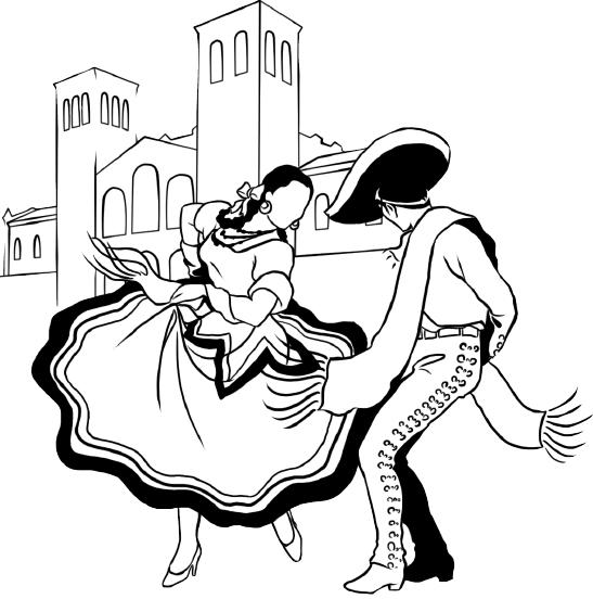 danza folklorica clipart