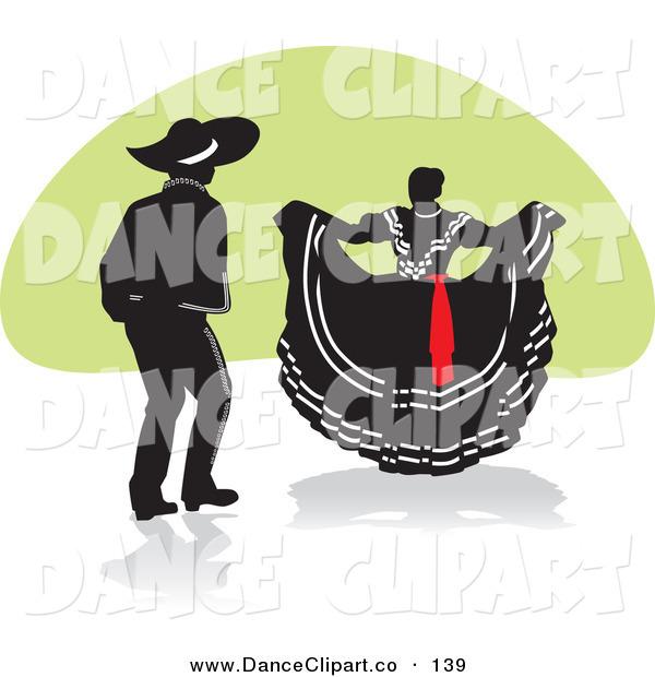 Mexican Dancers Clipart.