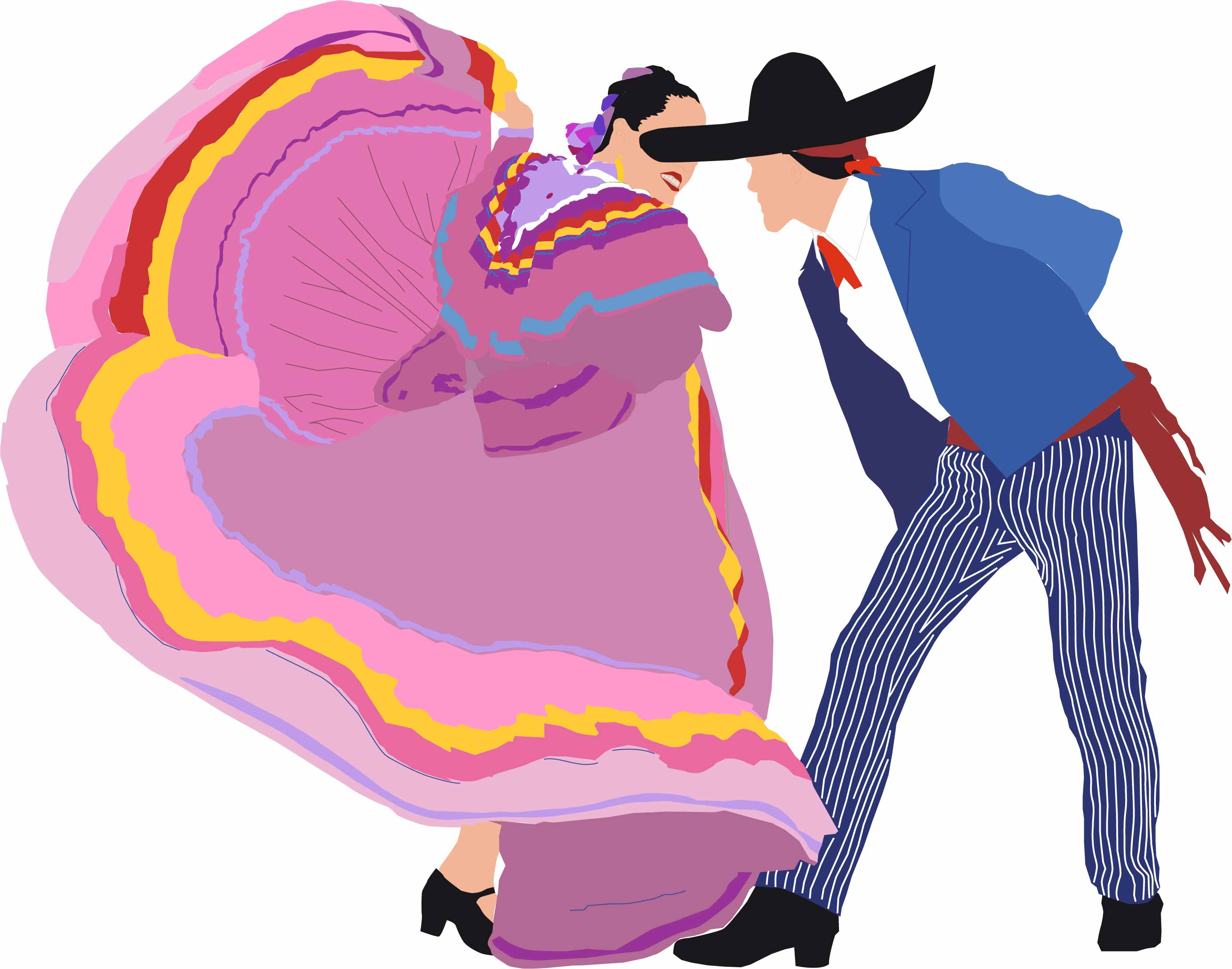 mexican people dancing coloring pages - photo#21
