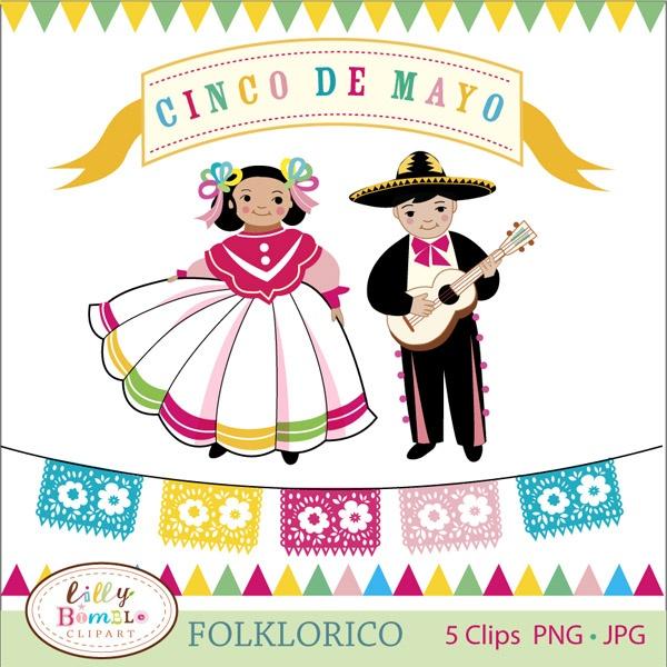 Baile folklorico clipart.