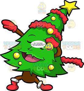 A Dabbing Christmas Tree.