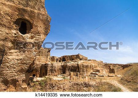Stock Image of Dara Necropolis in Mardin k14419335.