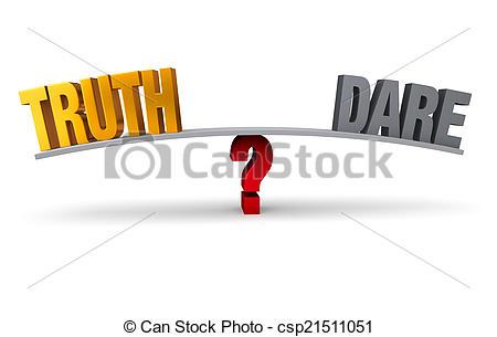 Truth or dare clipart.