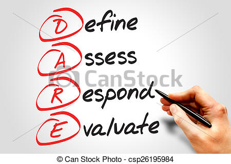 Pictures of Define Assess Respond Evaluate (DARE), business.