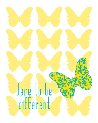 ColorBee Creative: New Quote Art: Dare To Be Different.