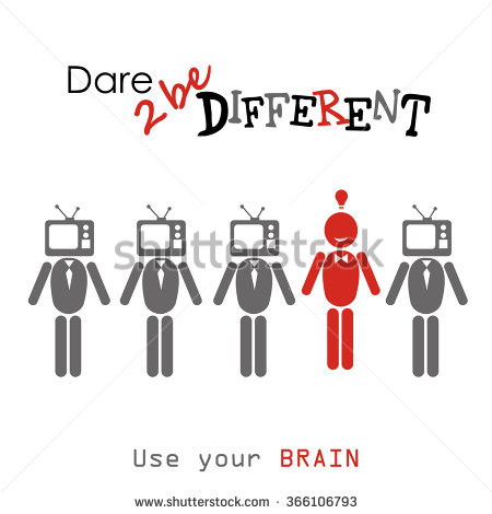 Dare to be different clipart.