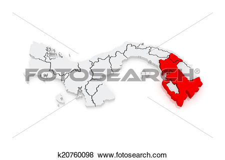 Stock Illustration of Map of Darien. Panama. k20760098.