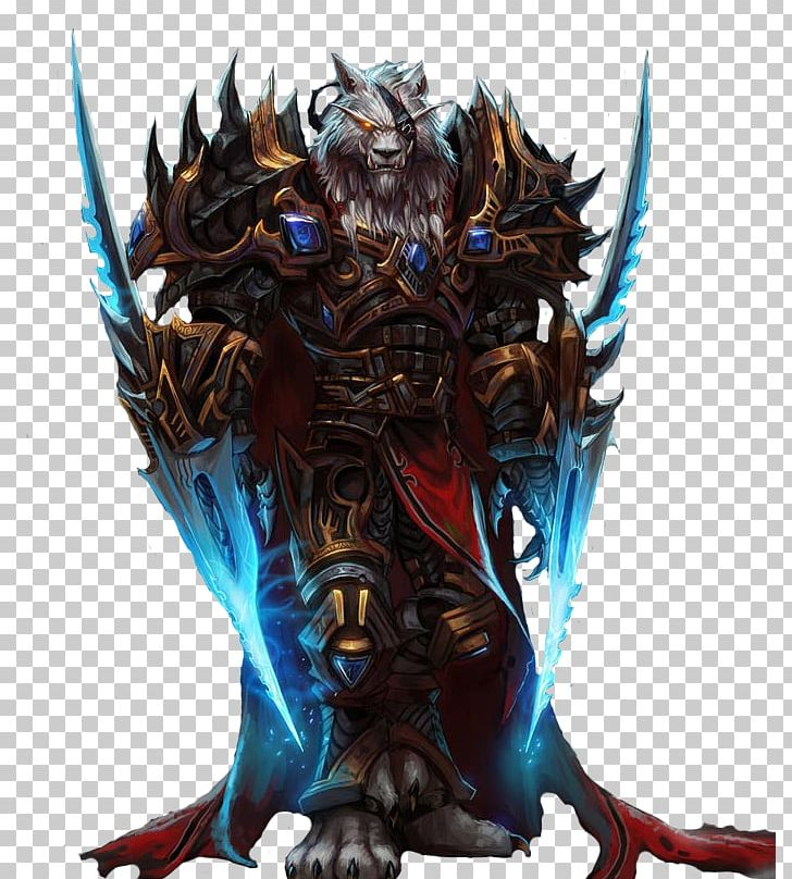 World Of Warcraft Worgen Lord Darius Crowley Werewolf Character PNG.