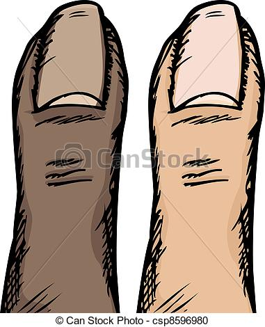 Vector Clipart of Human Thumb.