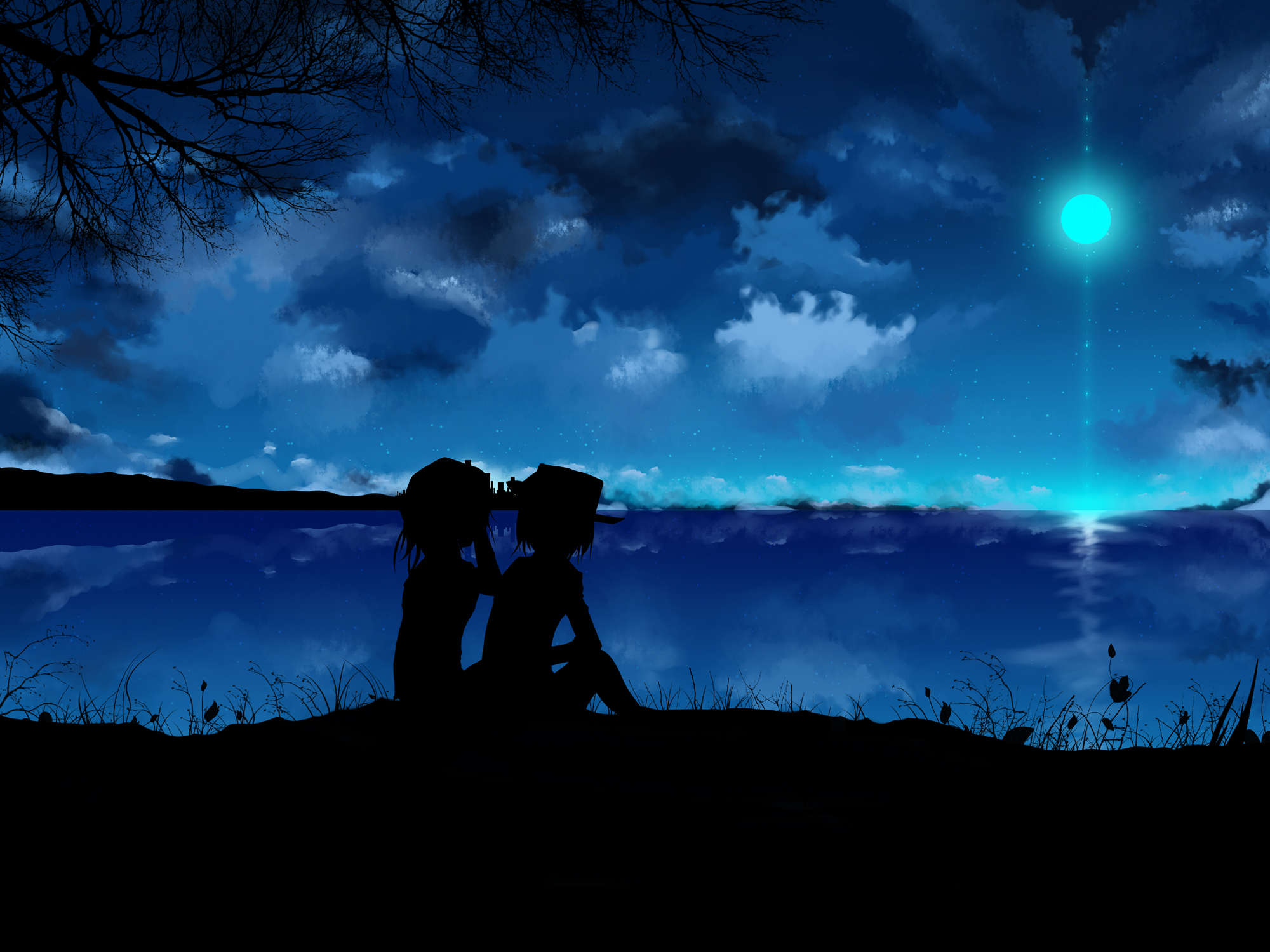 Dark Anime Scenery Wallpaper Clipart Hd