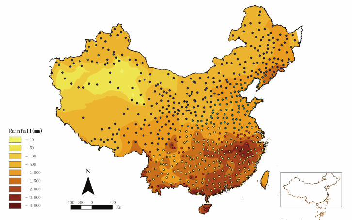 b. Risk map of P. vivax malaria in P.R. China created by.