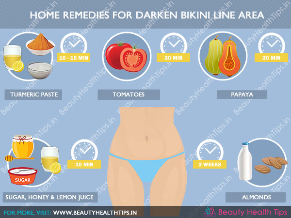 Home remedies for lighten dark bikini line area.