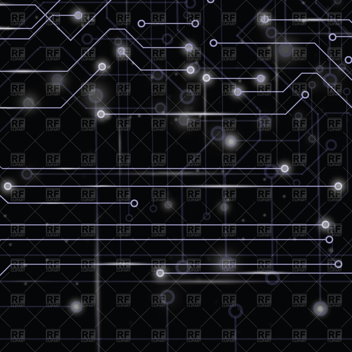 Technology circuit board on dark background Vector Image #63354.