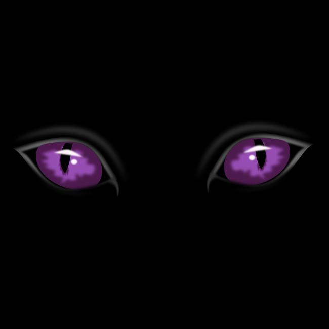 Blue eyes in the dark clipart.